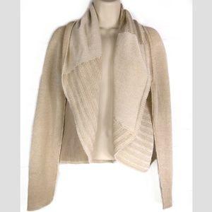 CAbi #483 Patchwork Cardigan Sweater Sz M Open